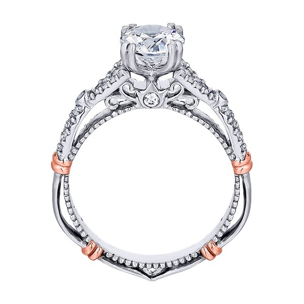 Verragio Parisian-102 Platinum Engagement Ring Alternative View 3