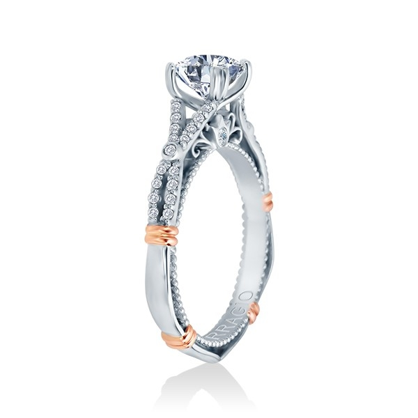 Verragio Parisian-102 Platinum Engagement Ring Alternative View 2