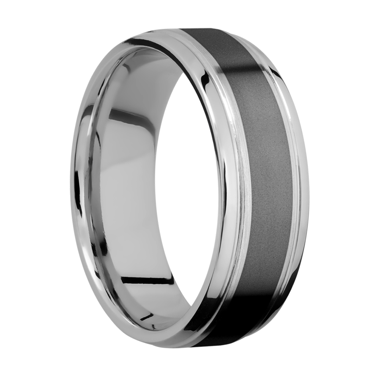 Lashbrook PF7B14(S)/ZIRCONIUM Titanium Wedding Ring or Band Alternative View 1