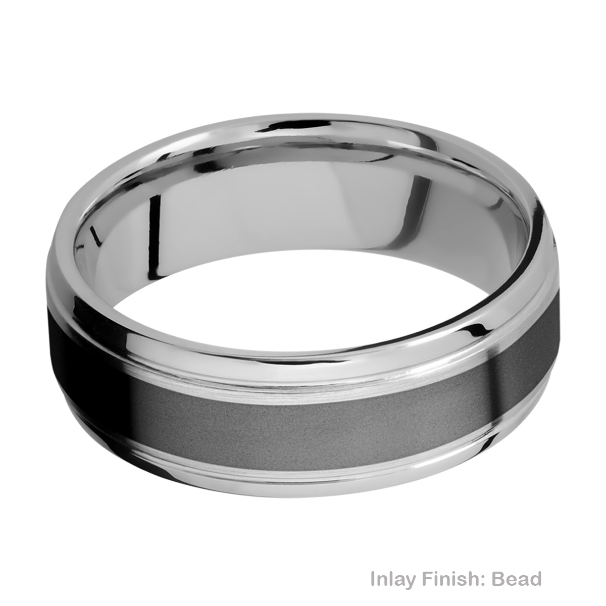 Lashbrook PF7B14(S)/ZIRCONIUM Titanium Wedding Ring or Band Alternative View 2