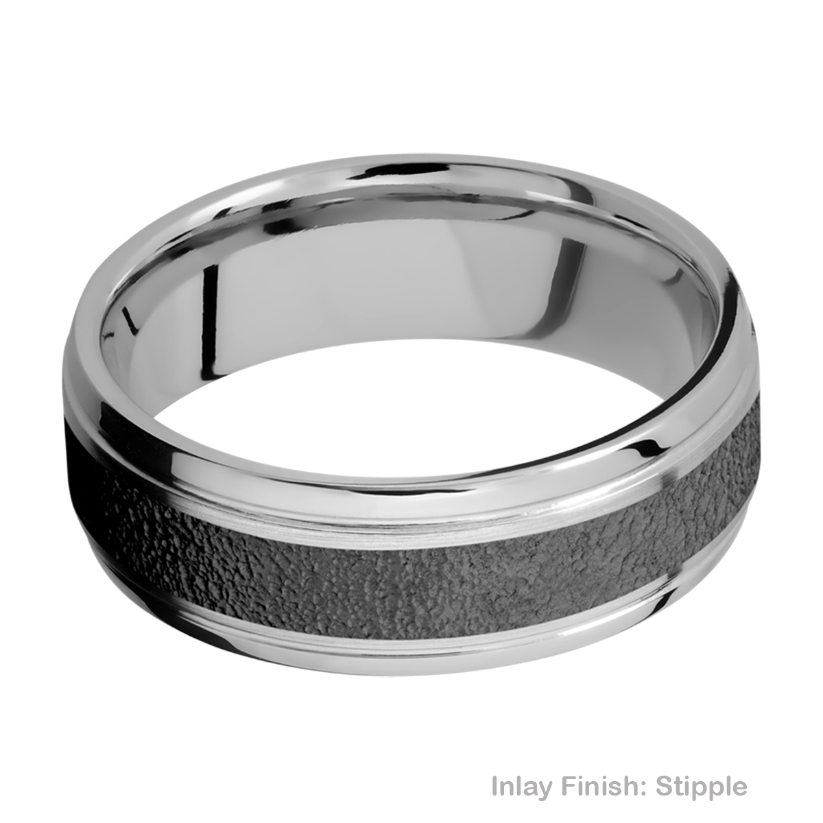 Lashbrook PF7B14(S)/ZIRCONIUM Titanium Wedding Ring or Band Alternative View 10