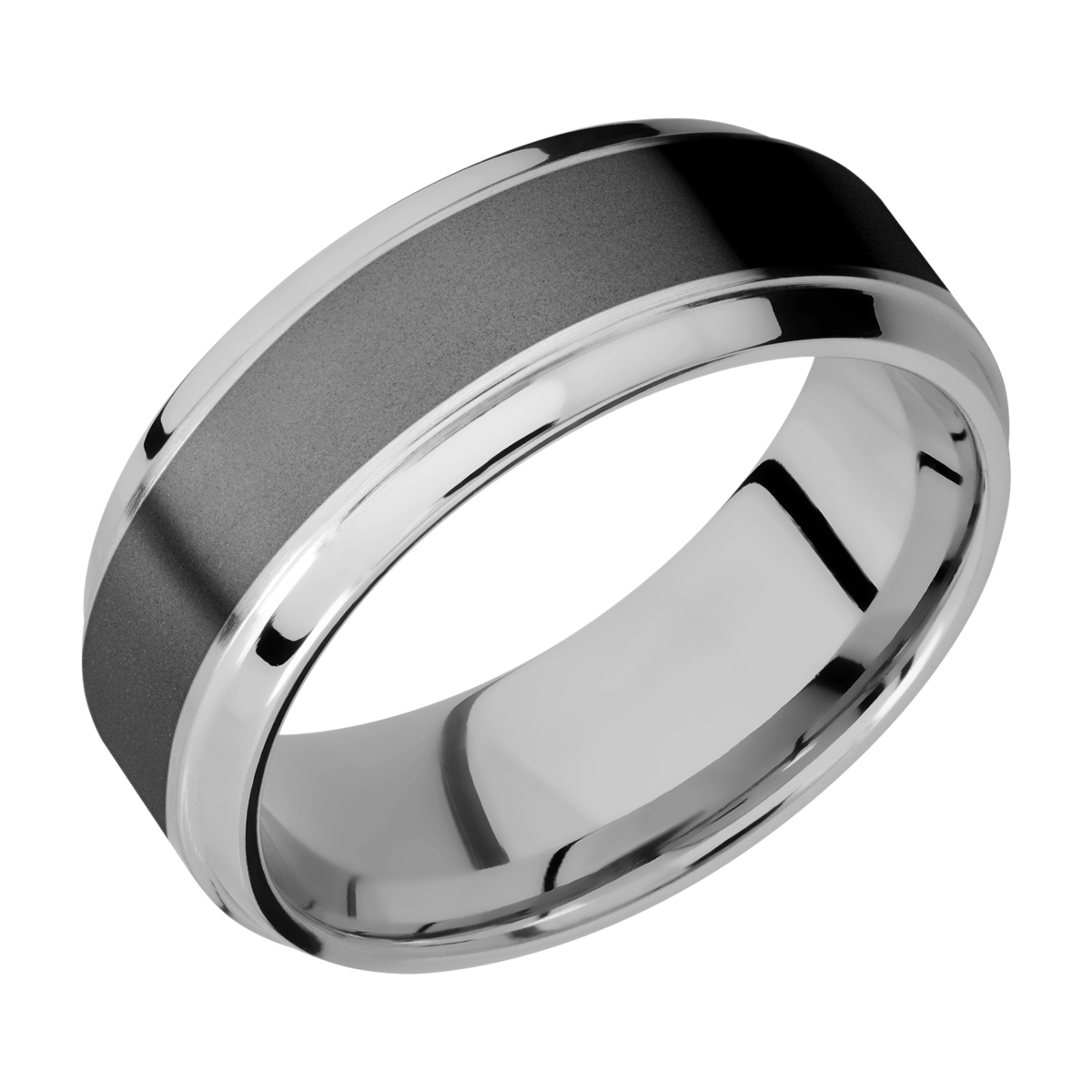 Lashbrook PF8B15(S)/ZIRCONIUM Titanium Wedding Ring or Band