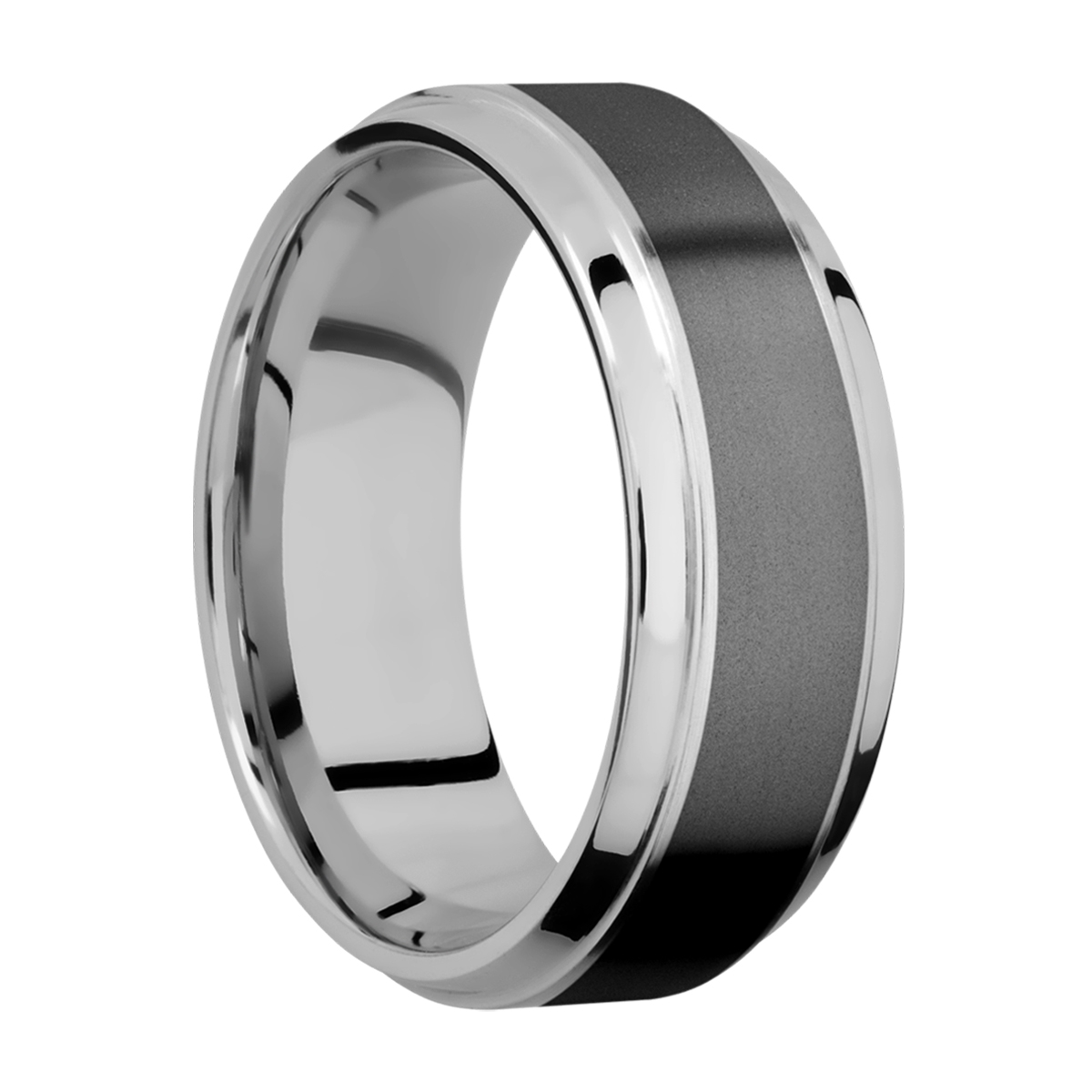 Lashbrook PF8B15(S)/ZIRCONIUM Titanium Wedding Ring or Band Alternative View 1