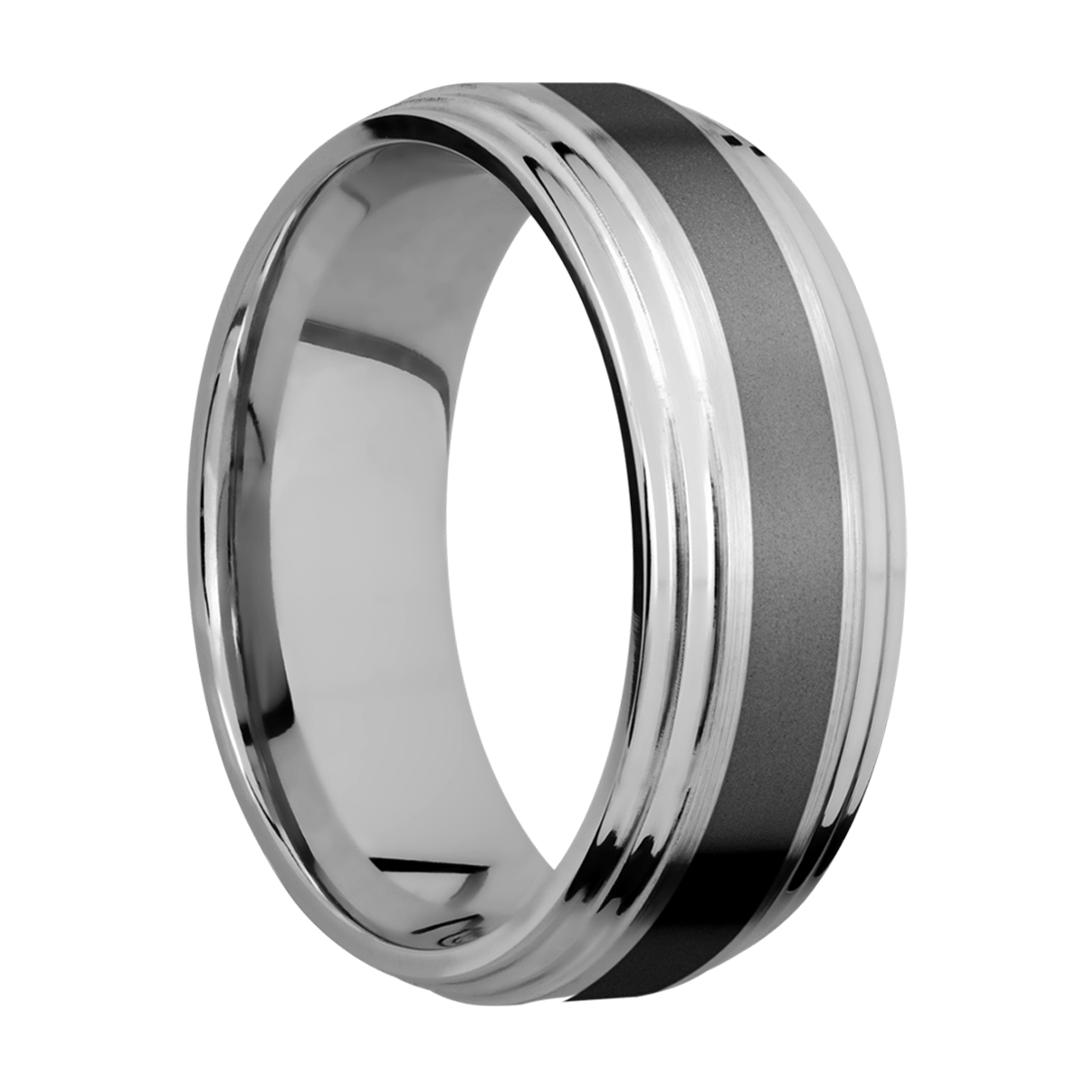 Lashbrook PF8F2S13/ZIRCONIUM Titanium Wedding Ring or Band Alternative View 1