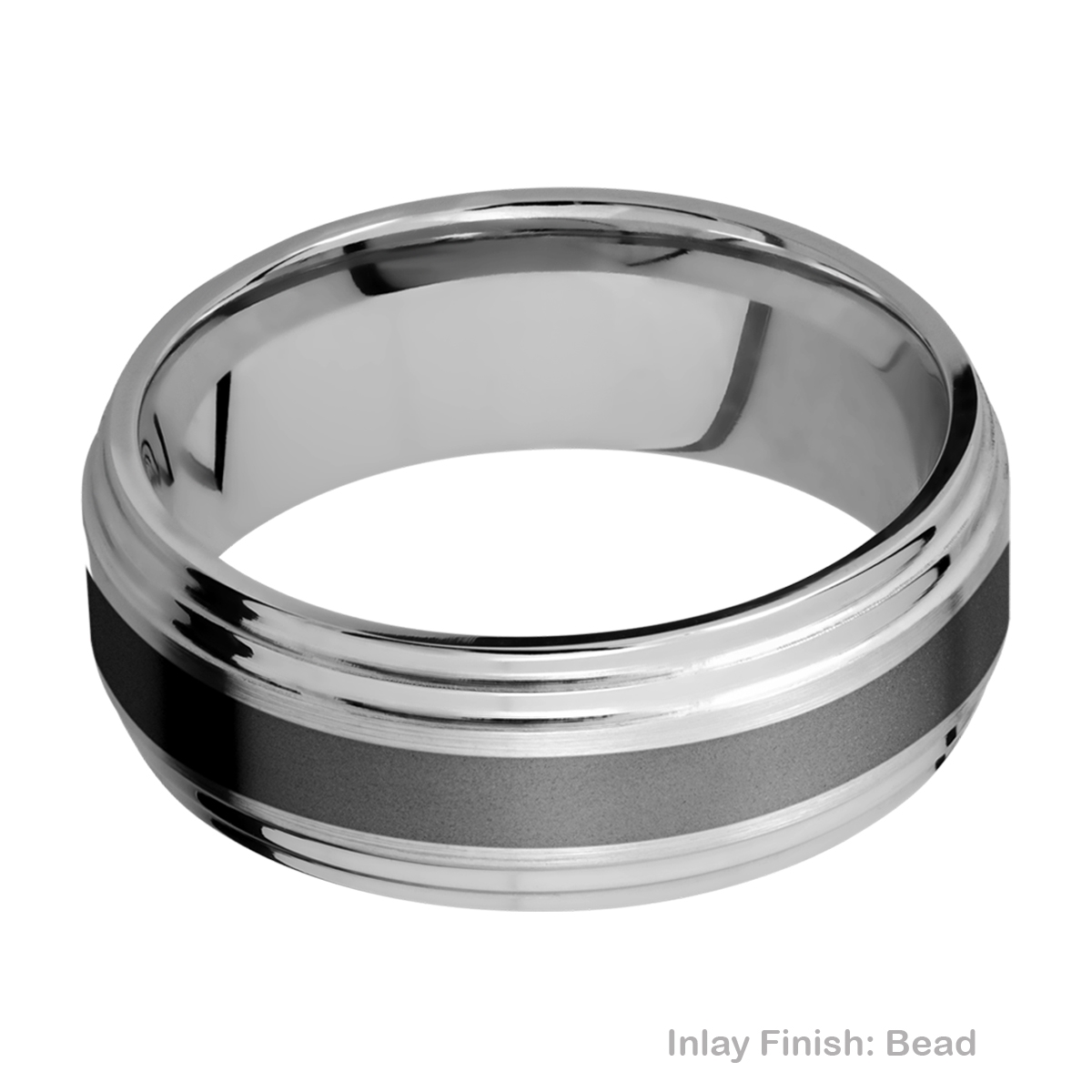 Lashbrook PF8F2S13/ZIRCONIUM Titanium Wedding Ring or Band Alternative View 2