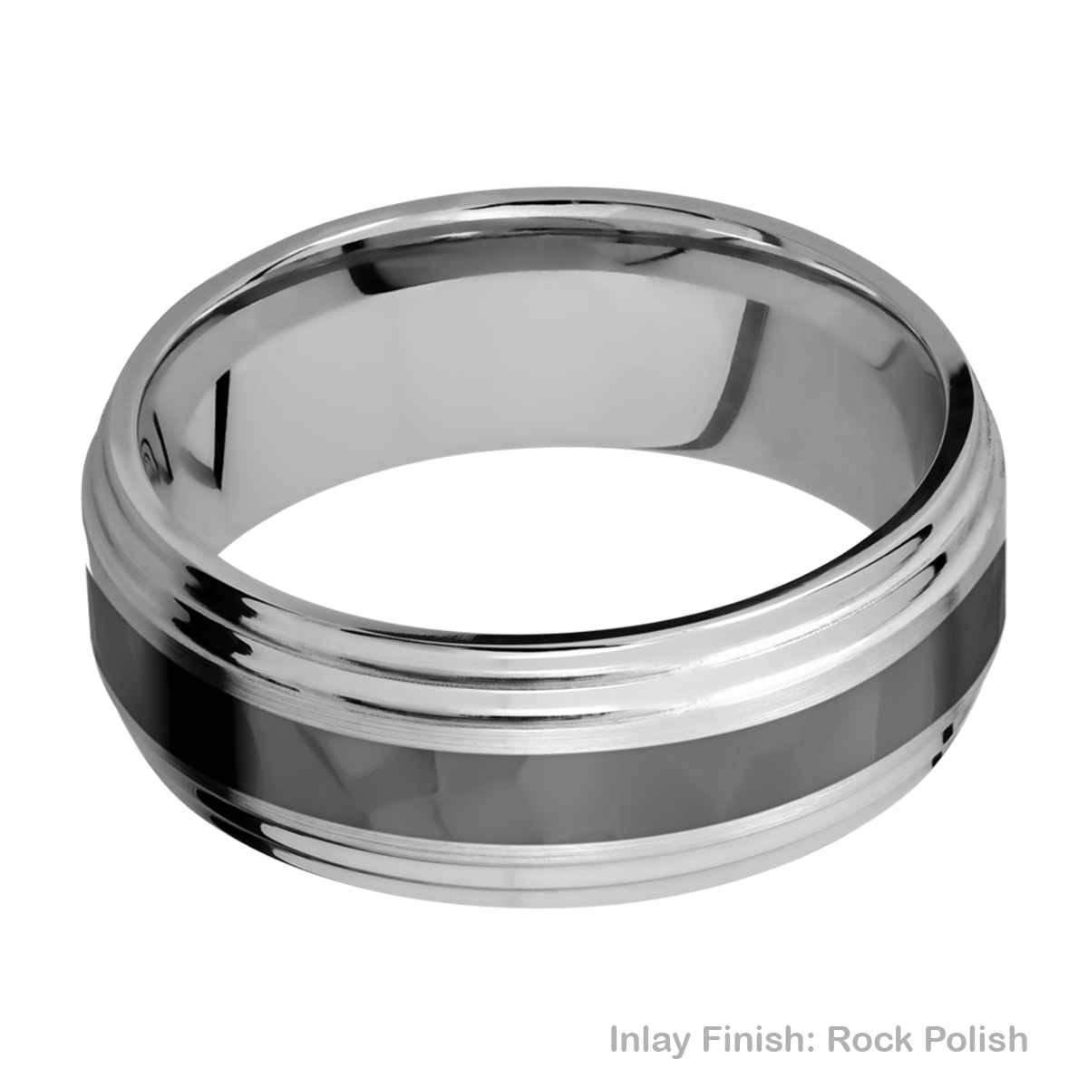Lashbrook PF8F2S13/ZIRCONIUM Titanium Wedding Ring or Band Alternative View 13