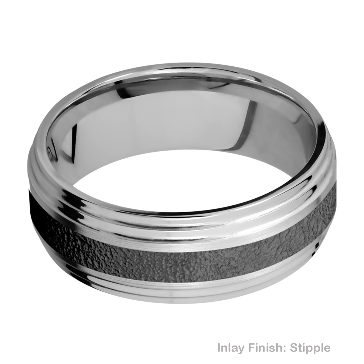 Lashbrook PF8F2S13/ZIRCONIUM Titanium Wedding Ring or Band Alternative View 10