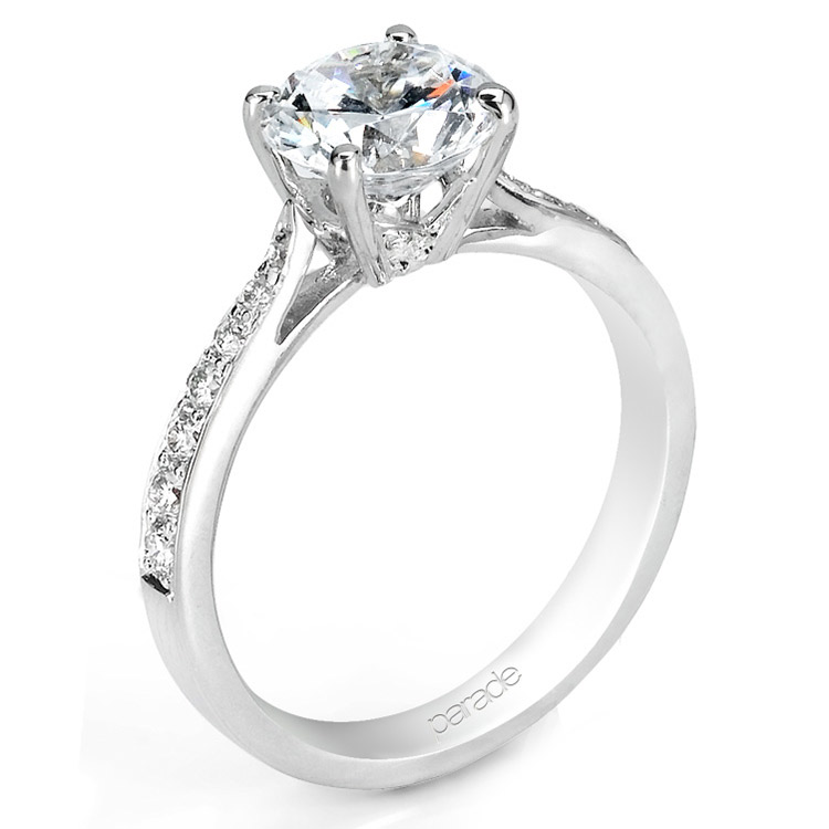 Parade New Classic R1686 Platinum Diamond Engagement Ring