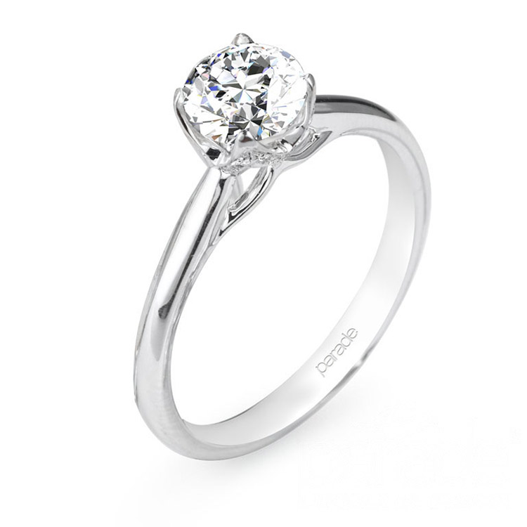 Parade New Classic R2638 14 Karat Diamond Engagement Ring