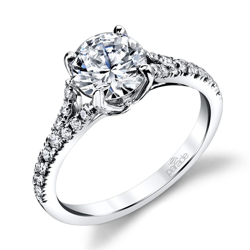 Parade New Classic R3311 18 Karat Diamond Engagement Ring. Goku Wedding Rings. Epic Wedding Wedding Rings. Case Engagement Rings. Embedded Wedding Rings