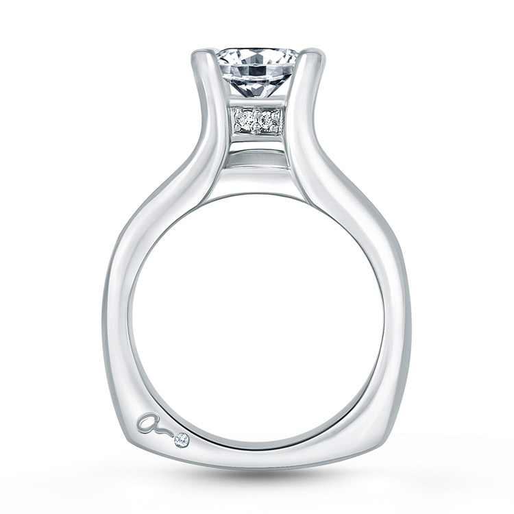 A.JAFFE Platinum Signature Engagement Ring RMS006 Alternative View 1