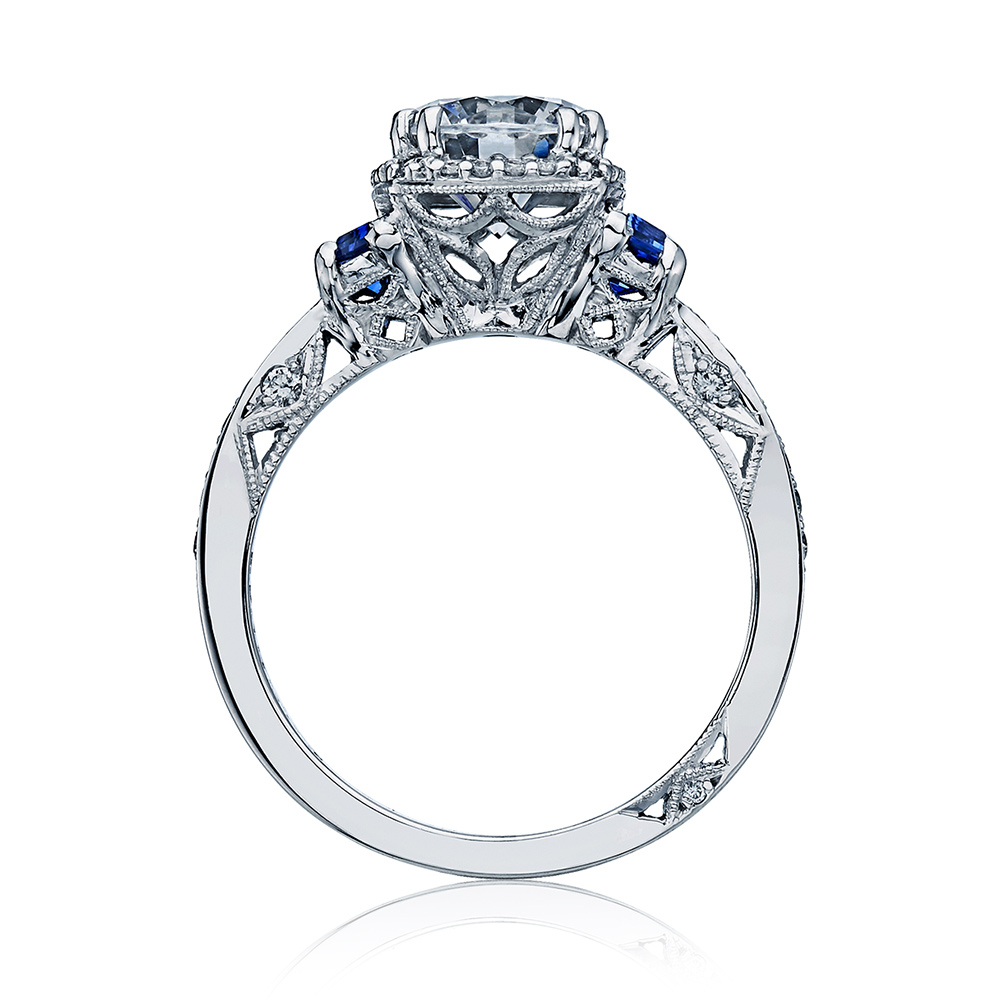 Tacori Dantela Platinum Engagement Ring 2628RDSP Alternative View 1