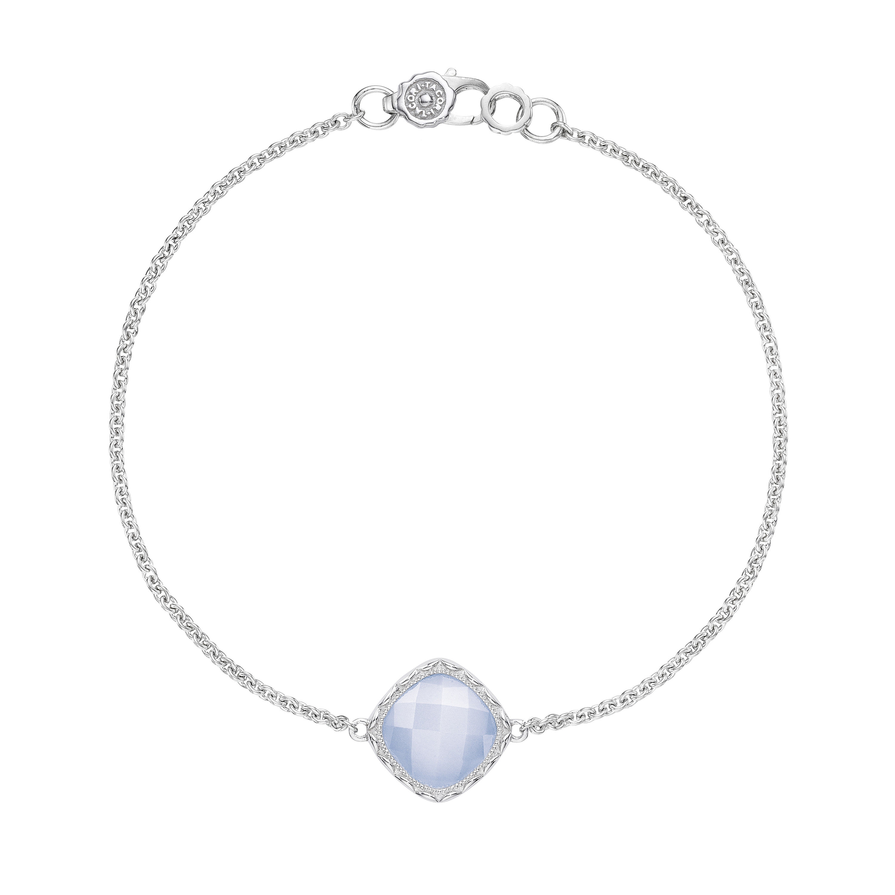 SB22303 Tacori Solitaire Cushion Gem Bracelet with Chalcedony