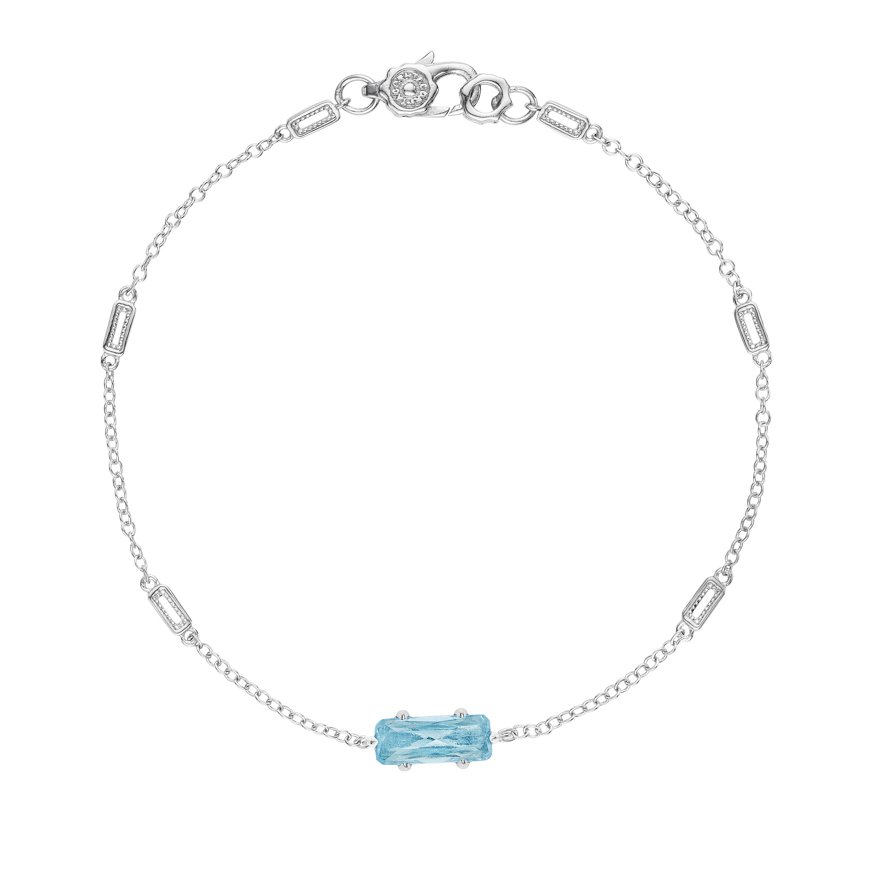 SB22502 Tacori Solitaire Emerald Cut Gem Bracelet with Sky Blue Topaz
