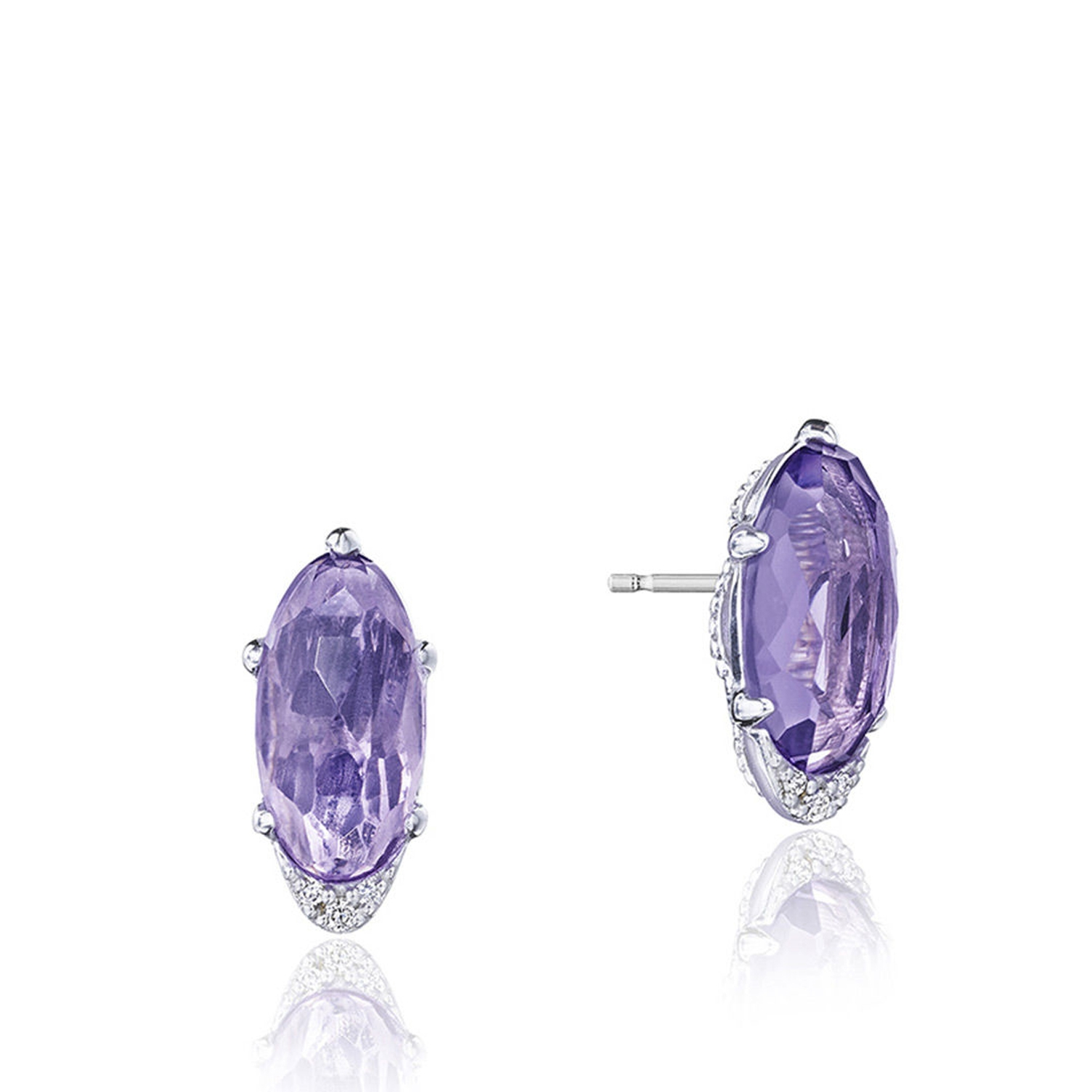 Tacori SE24801 Oval-Shaped Gem Earrings with Amethyst