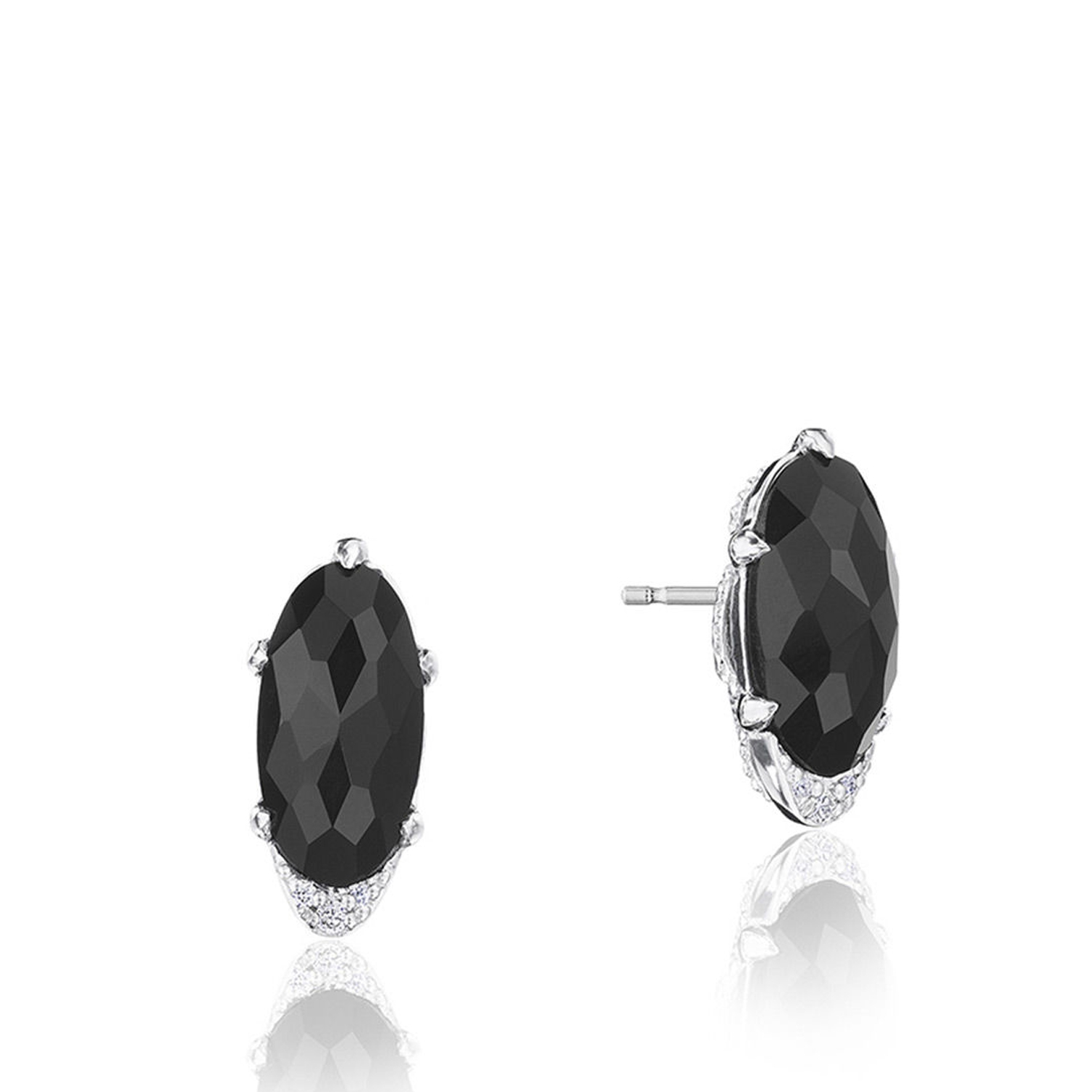 Tacori SE24819 Oval-Shaped Gem Earrings with Black Onyx