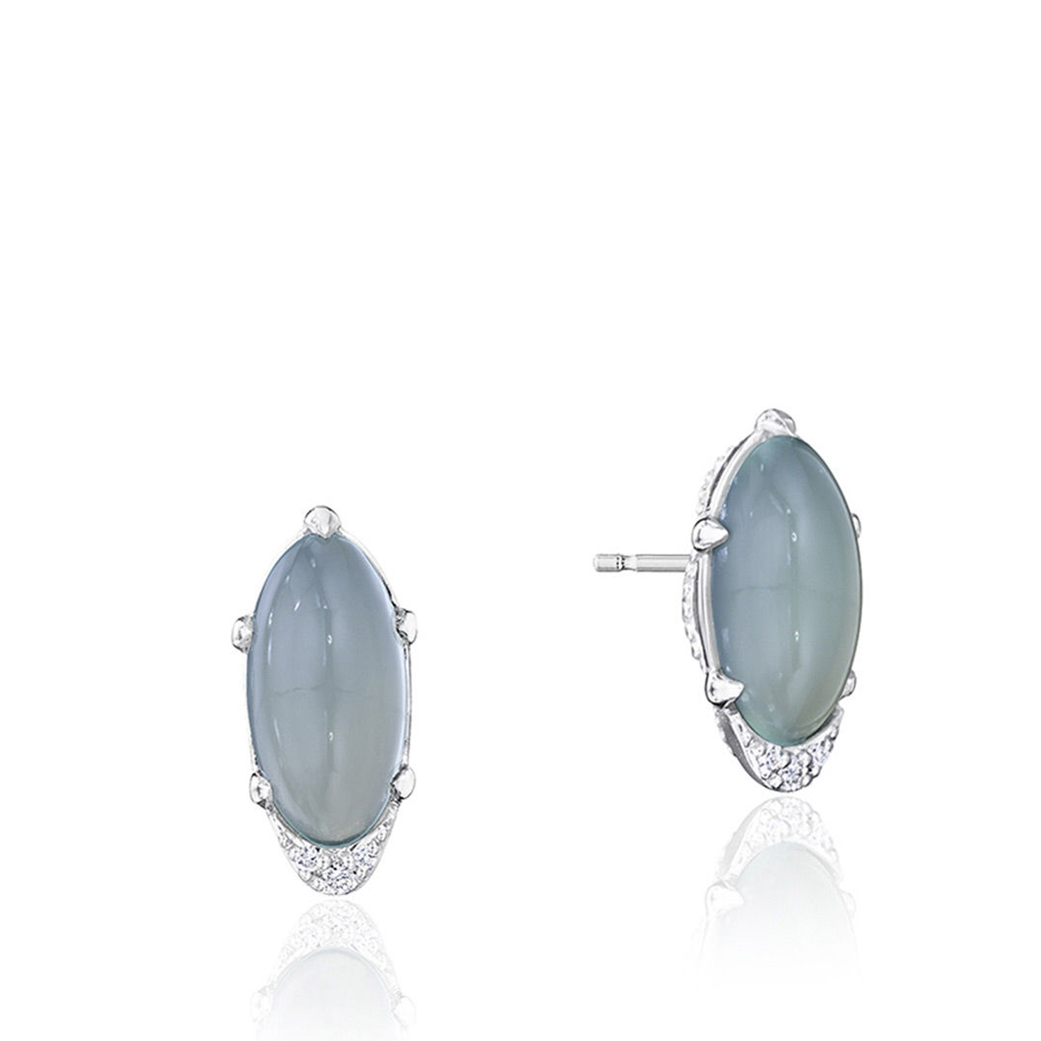 Tacori SE24838 Oval-Shaped Gem Earrings with Green Chalcedony
