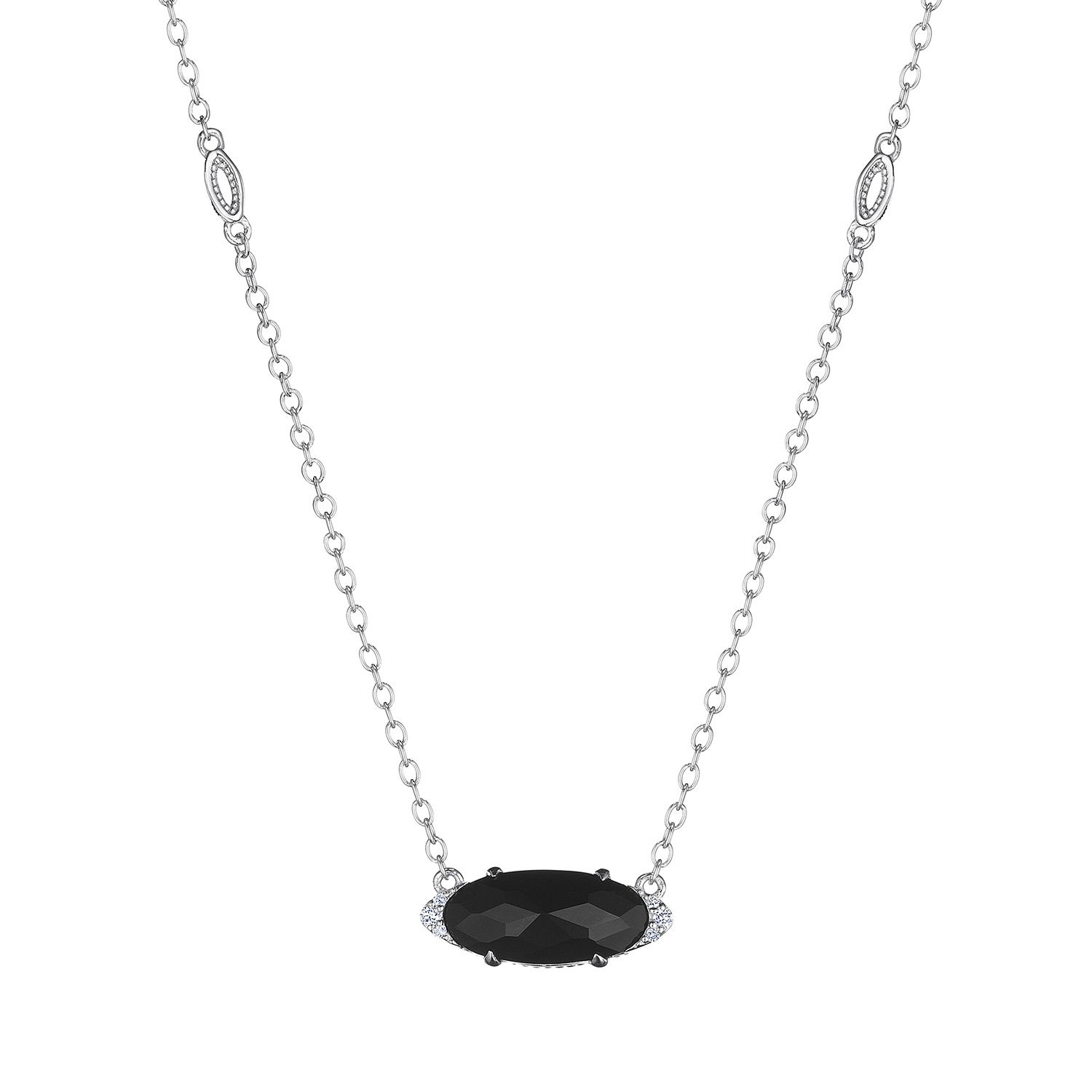 Tacori SN23319 Solitaire Oval Gem Necklace with Black Onyx
