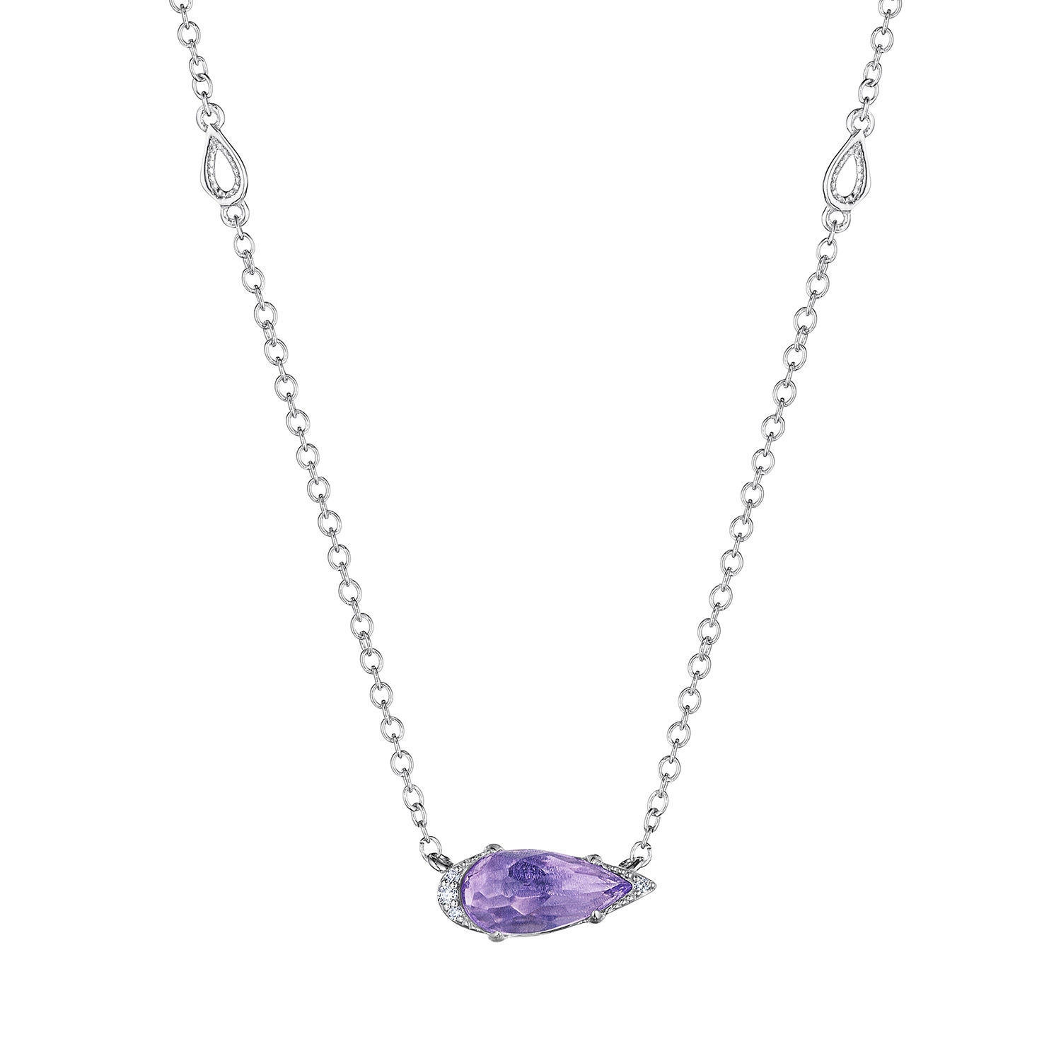 Tacori SN23501 Solitaire Pear-Shaped Gem Necklace with Amethyst