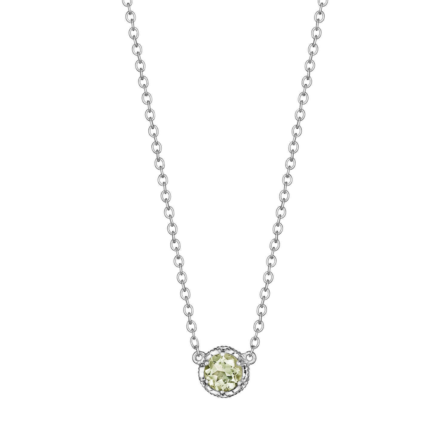 Tacori SN23612 Cushion Gem Necklace with Prasiolite