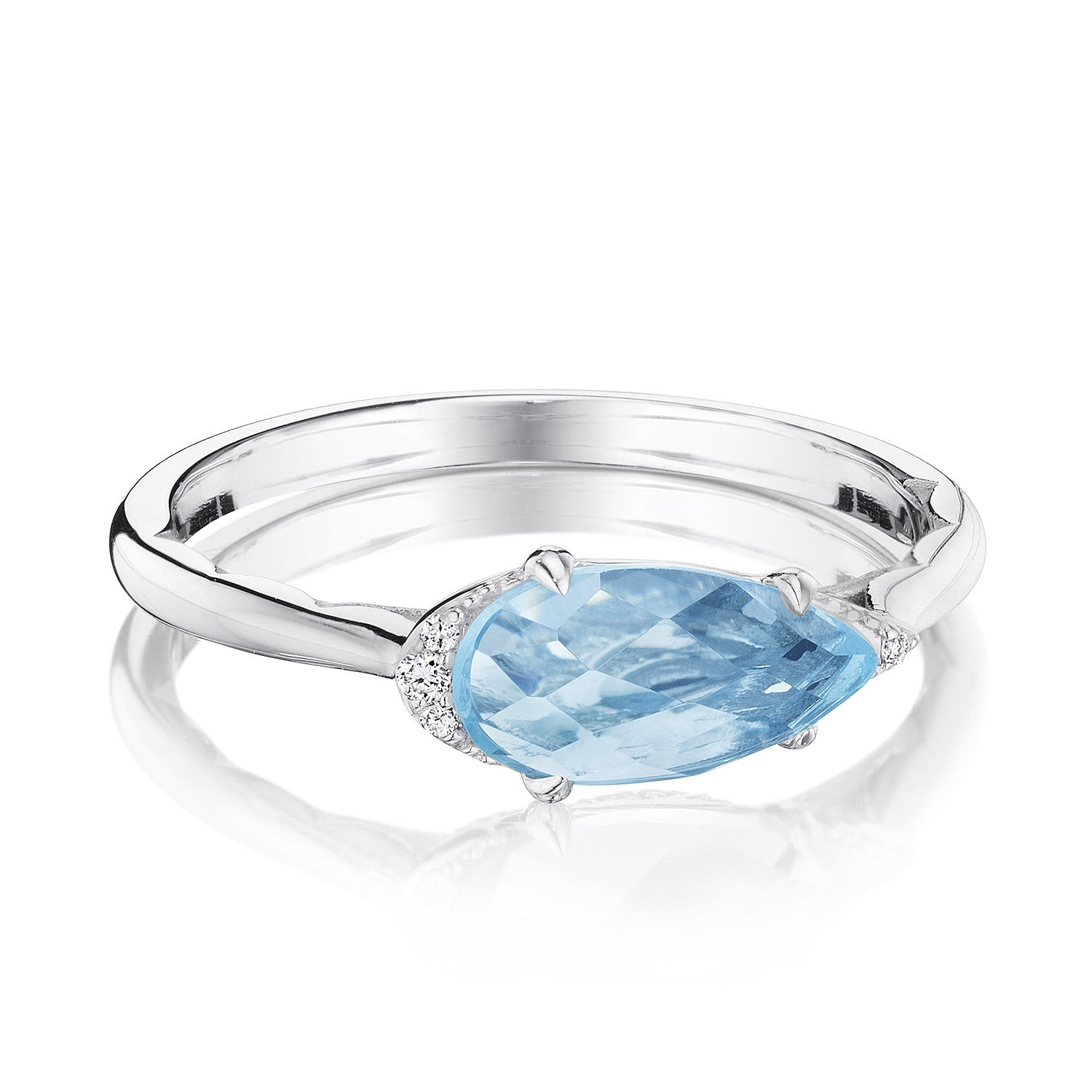 Tacori SR23302 Solitaire Pear-Shaped Ring with Sky Blue Topaz