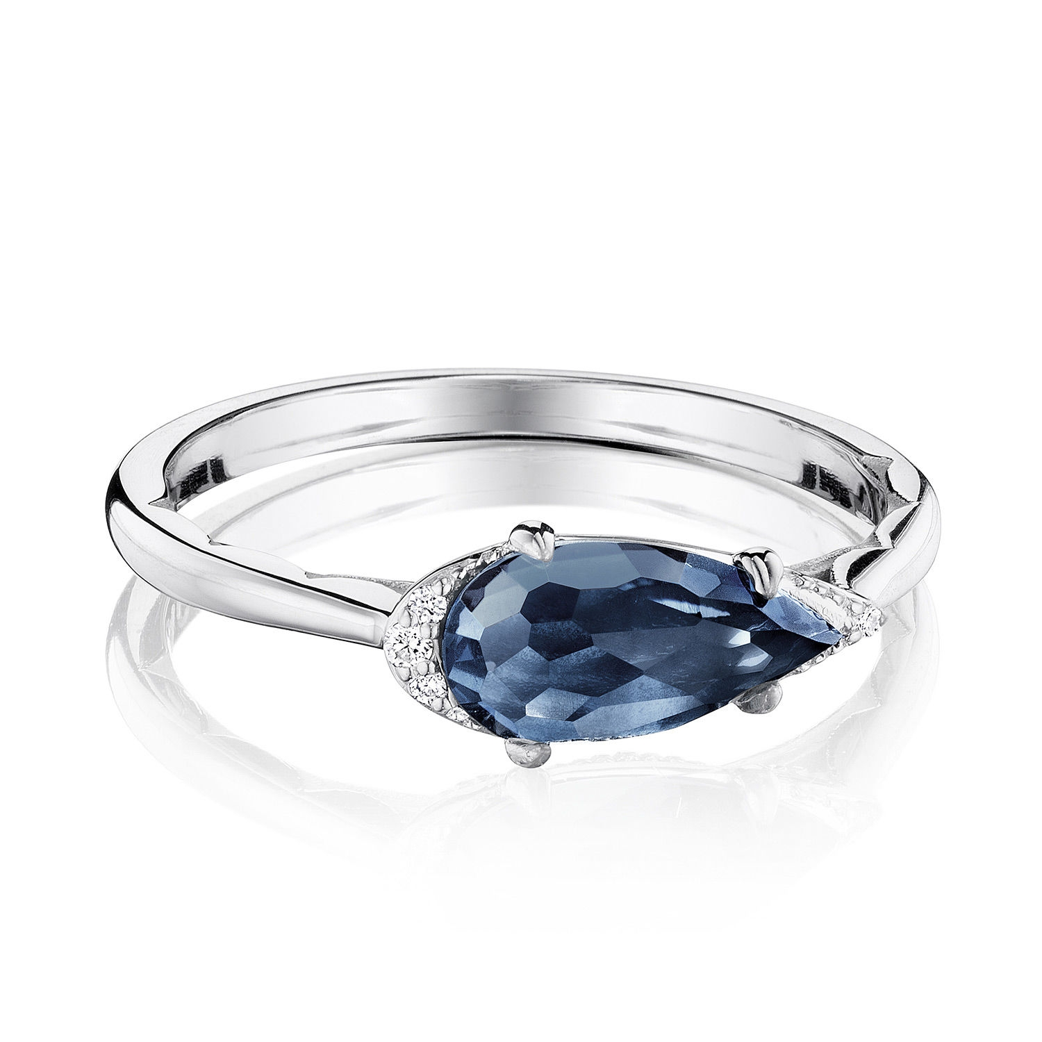 Tacori SR23333 Solitaire Pear-Shaped Ring with London Blue Topaz