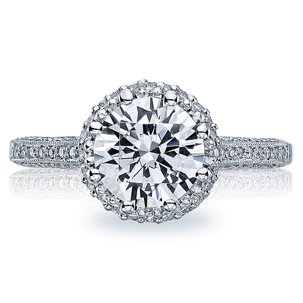 Tacori Platinum Solitaire Engagement Ring 2502RDP7
