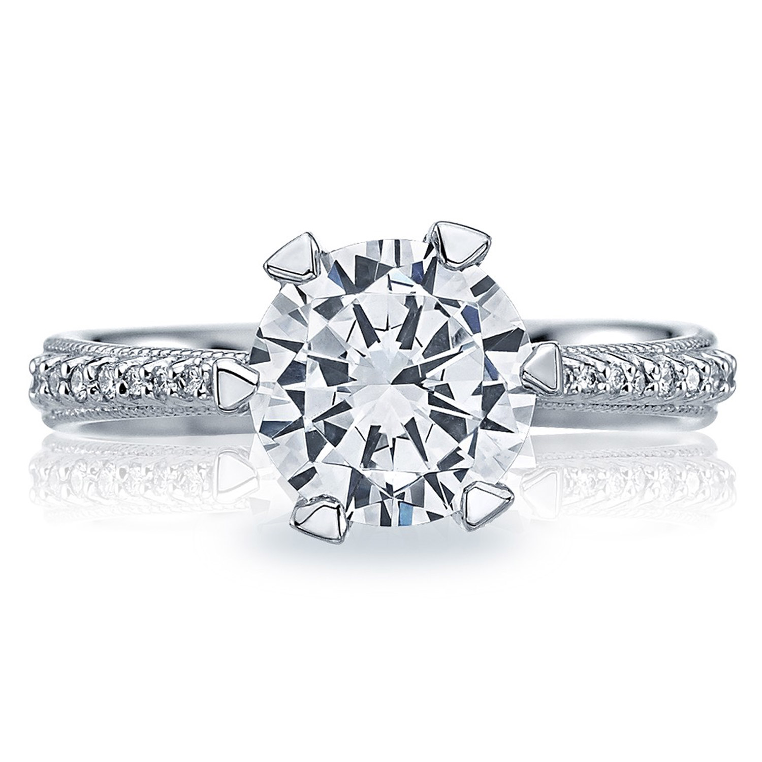 diamond ring campbell solitaire engagement platinum round pin