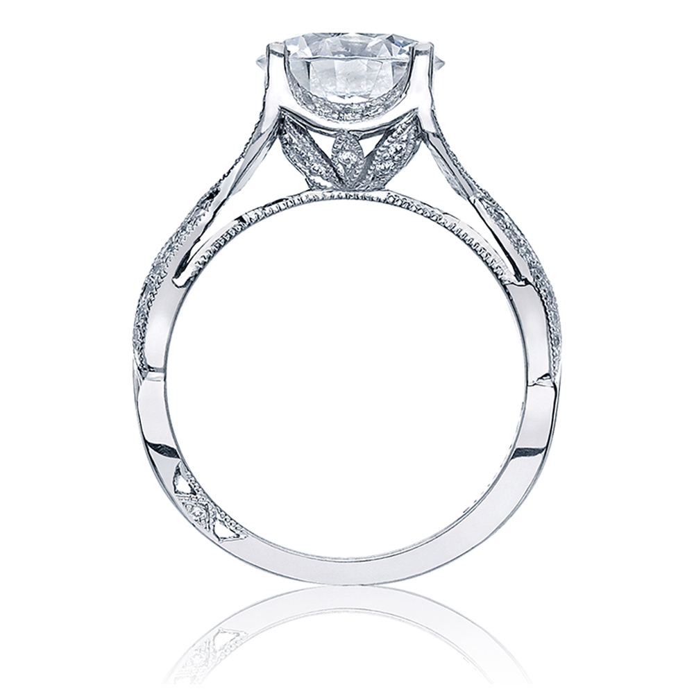 Tacori Platinum Crescent Silhouette Engagement Ring 2565RD9 Alternative View 1