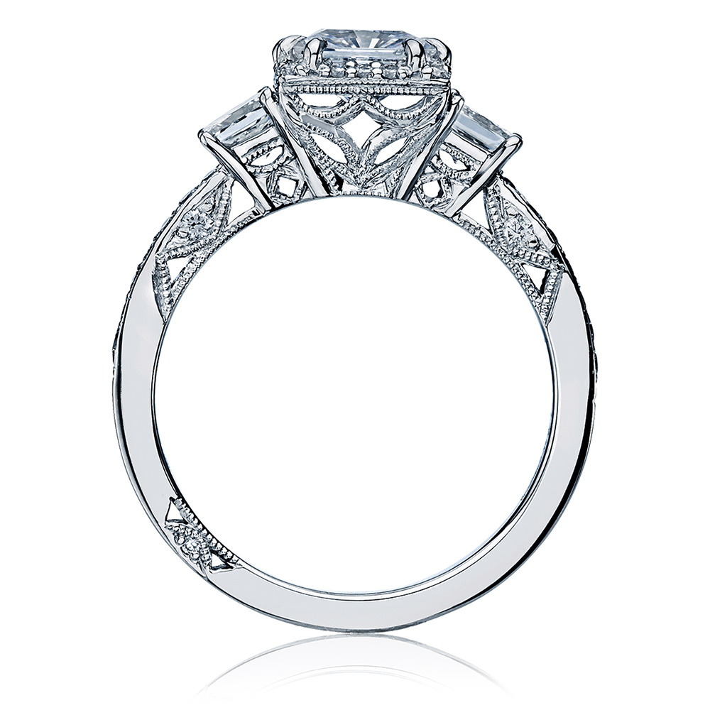 Tacori 18 Karat Dantela Engagement Ring 2622PRLGP Alternative View 1