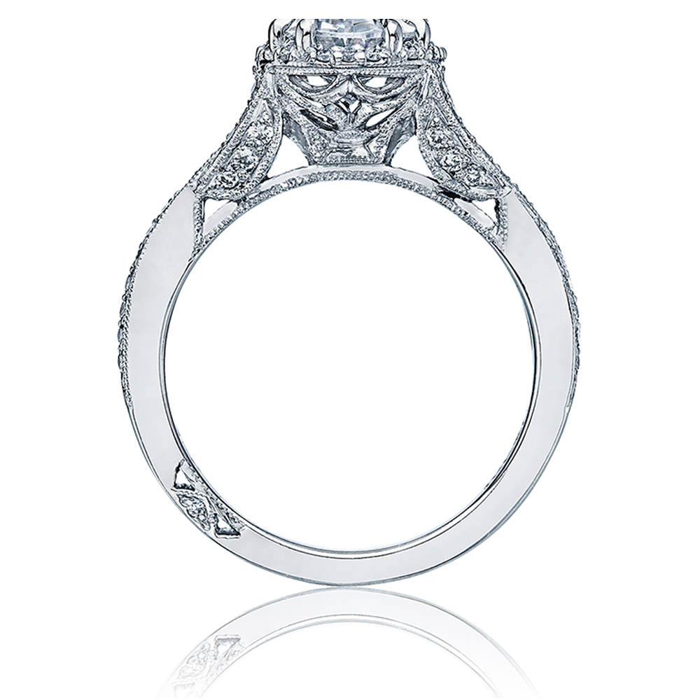 Tacori Dantela Platinum Engagement Ring 2627OVLG Alternative View 1