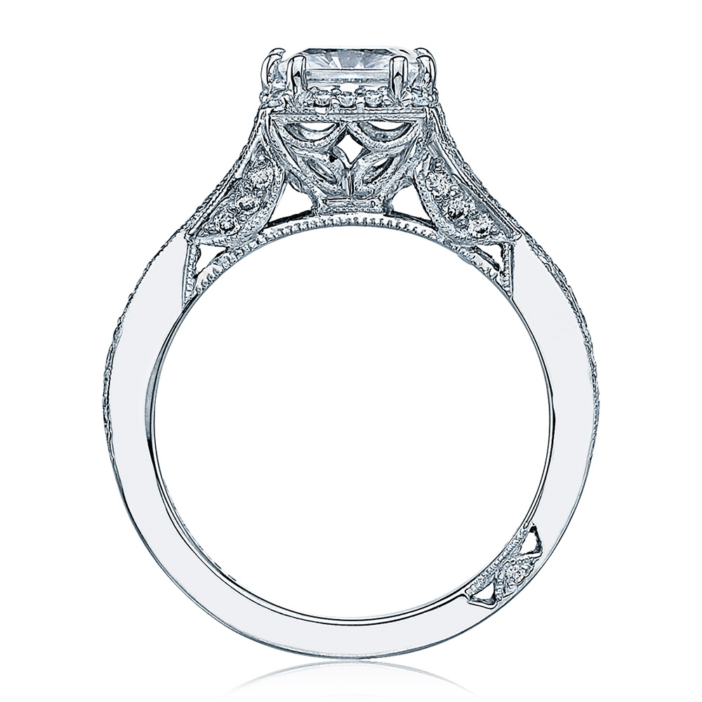 Tacori Dantela Platinum Engagement Ring 2627PRLG Alternative View 1
