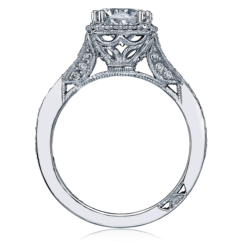 Tacori Dantela Platinum Engagement Ring 2627RDLG Alternative View 1
