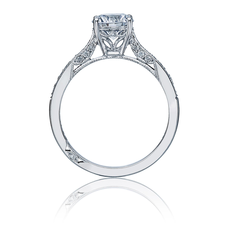 Tacori Dantela Platinum Engagement Ring 2638rdp75 Tq