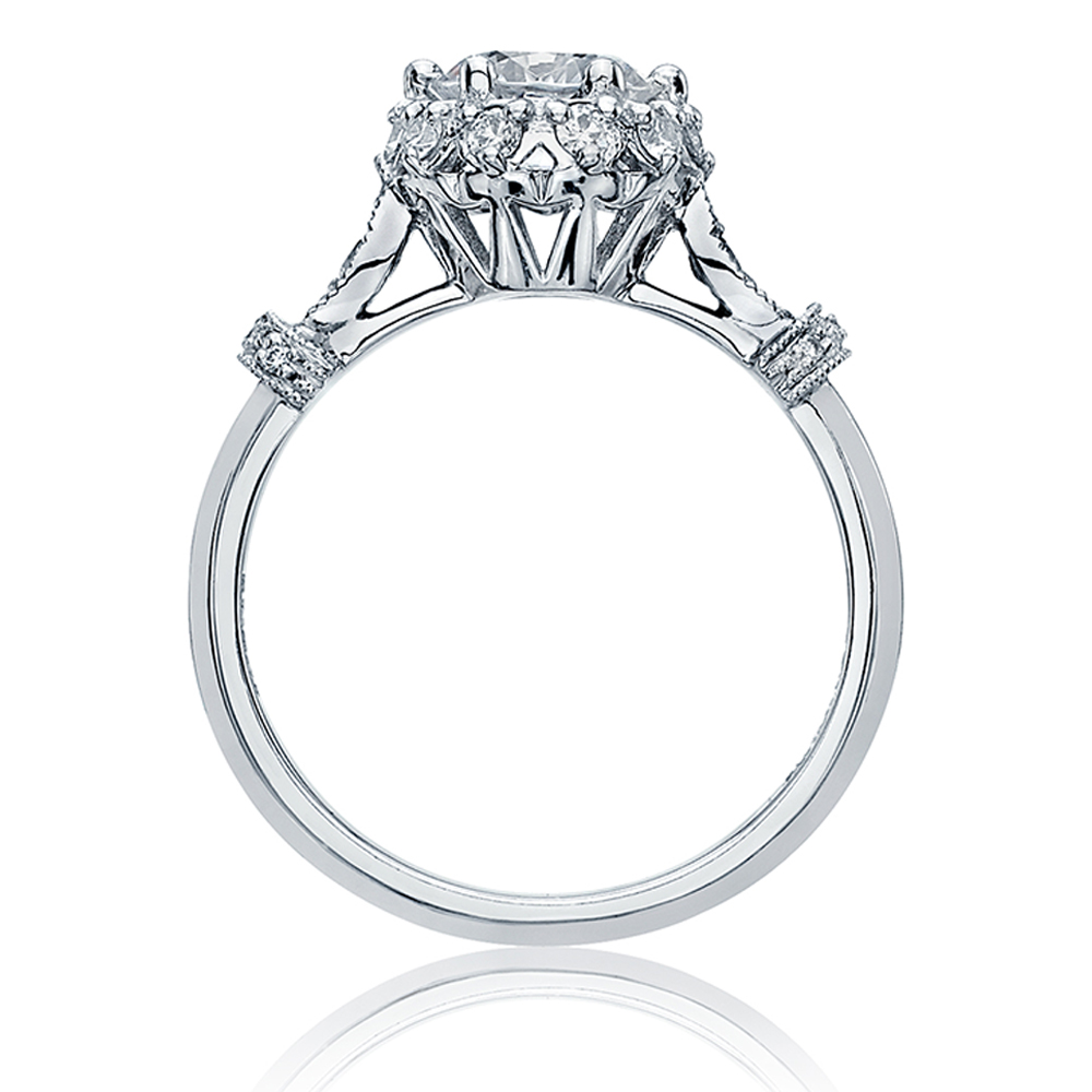 Tacori Platinum Simply Tacori Engagement Ring HT2299 Alternative View 1