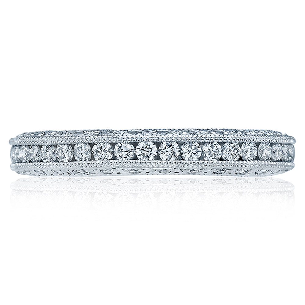 Tacori Platinum Crescent Silhouette Wedding Band HT2326B
