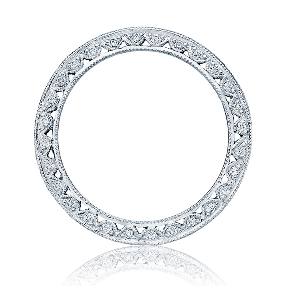 Tacori Platinum Crescent Silhouette Wedding Band HT2326B Alternative View 1