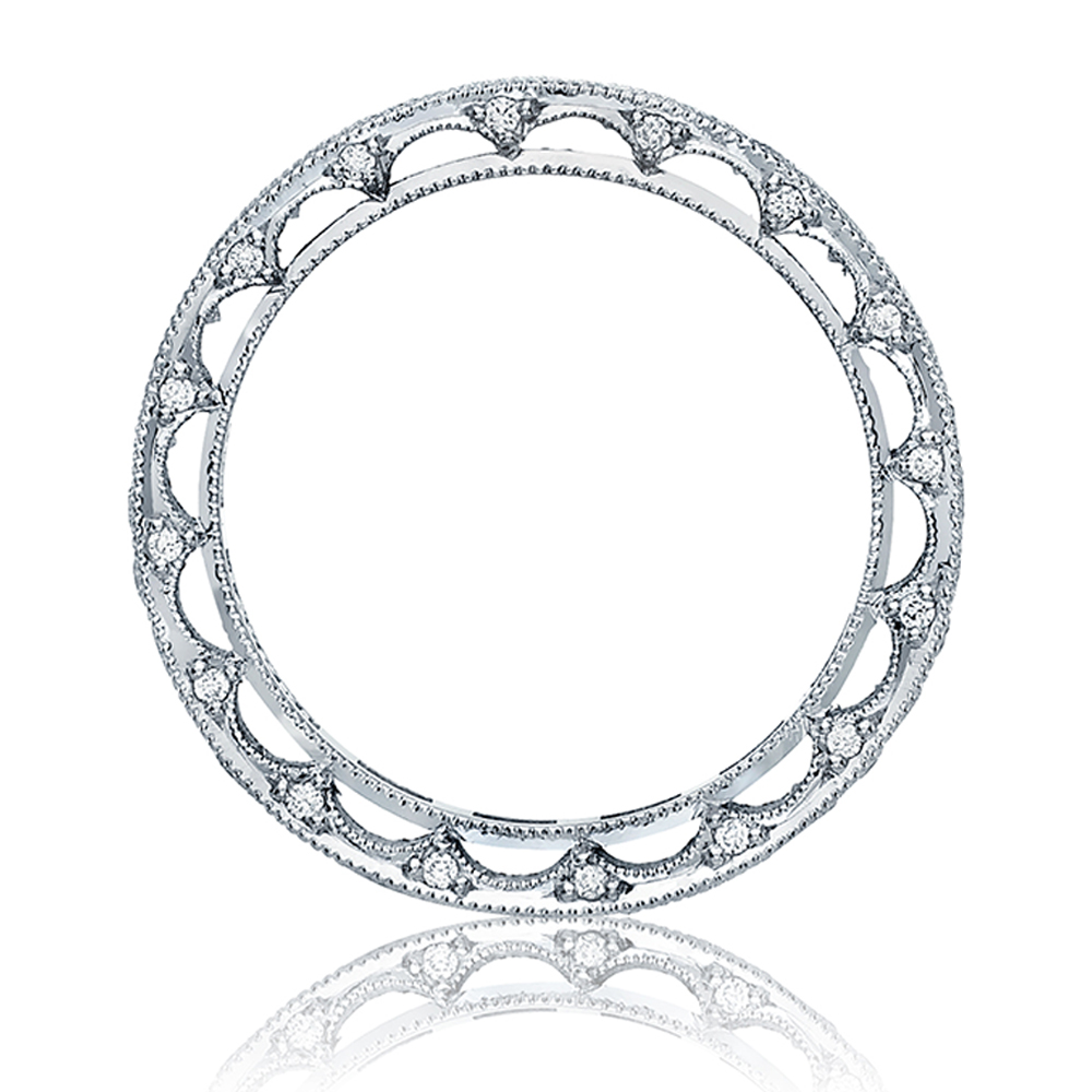 Tacori Platinum Crescent Silhouette Wedding Band HT2510B TQ Diamonds