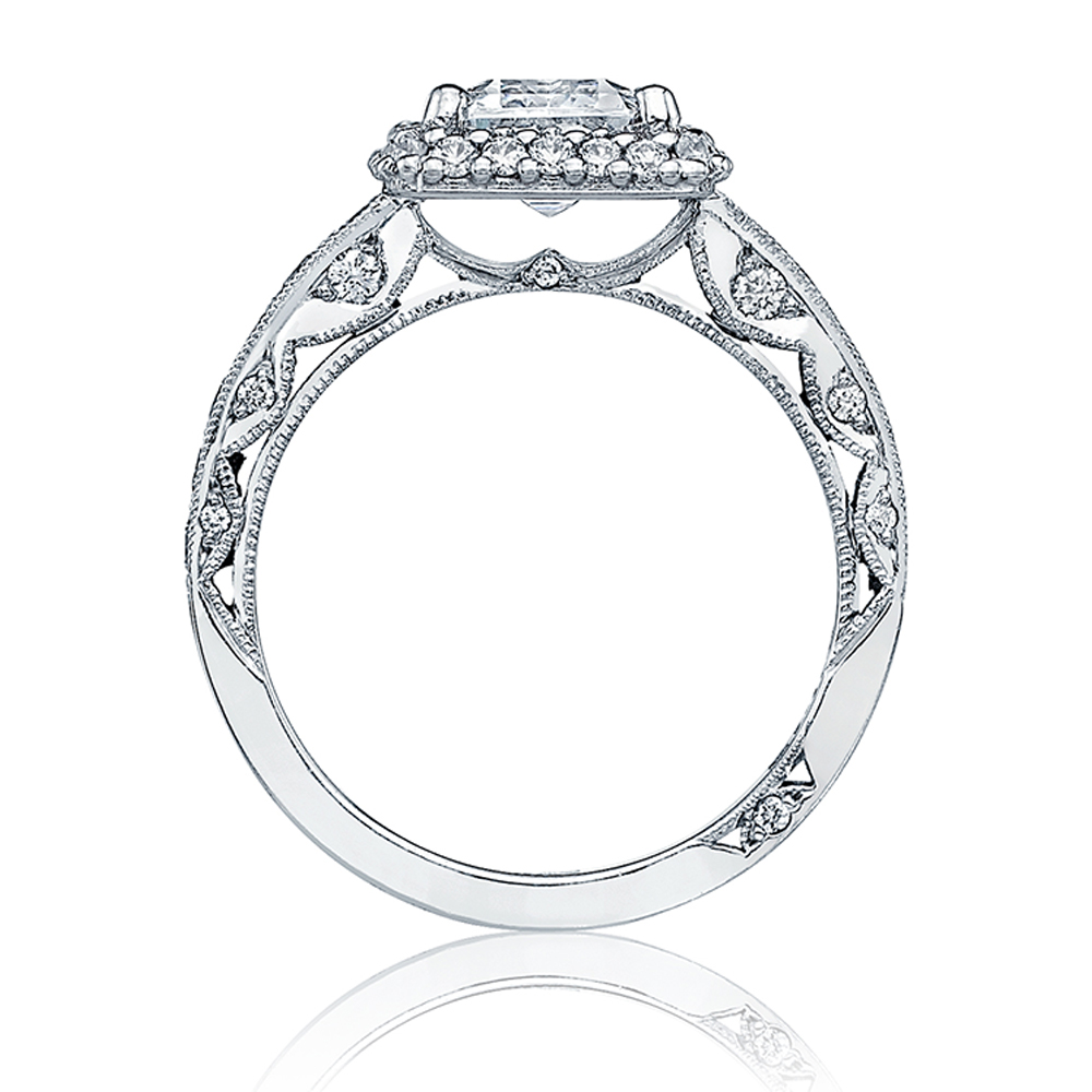 HT2520EC85X65 Tacori Crescent Platinum Engagement Ring Alternative View 1
