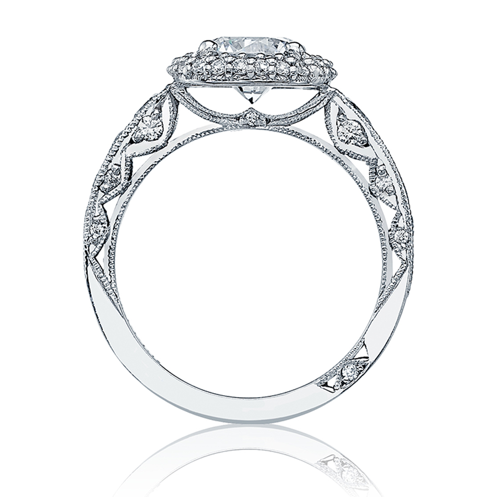 HT2521CU75 Tacori Crescent Platinum Engagement Ring Alternative View 1