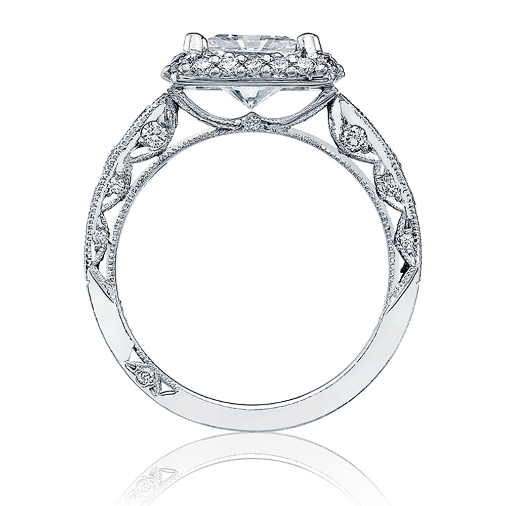 HT2521PR7 Tacori Crescent Platinum Engagement Ring Alternative View 1