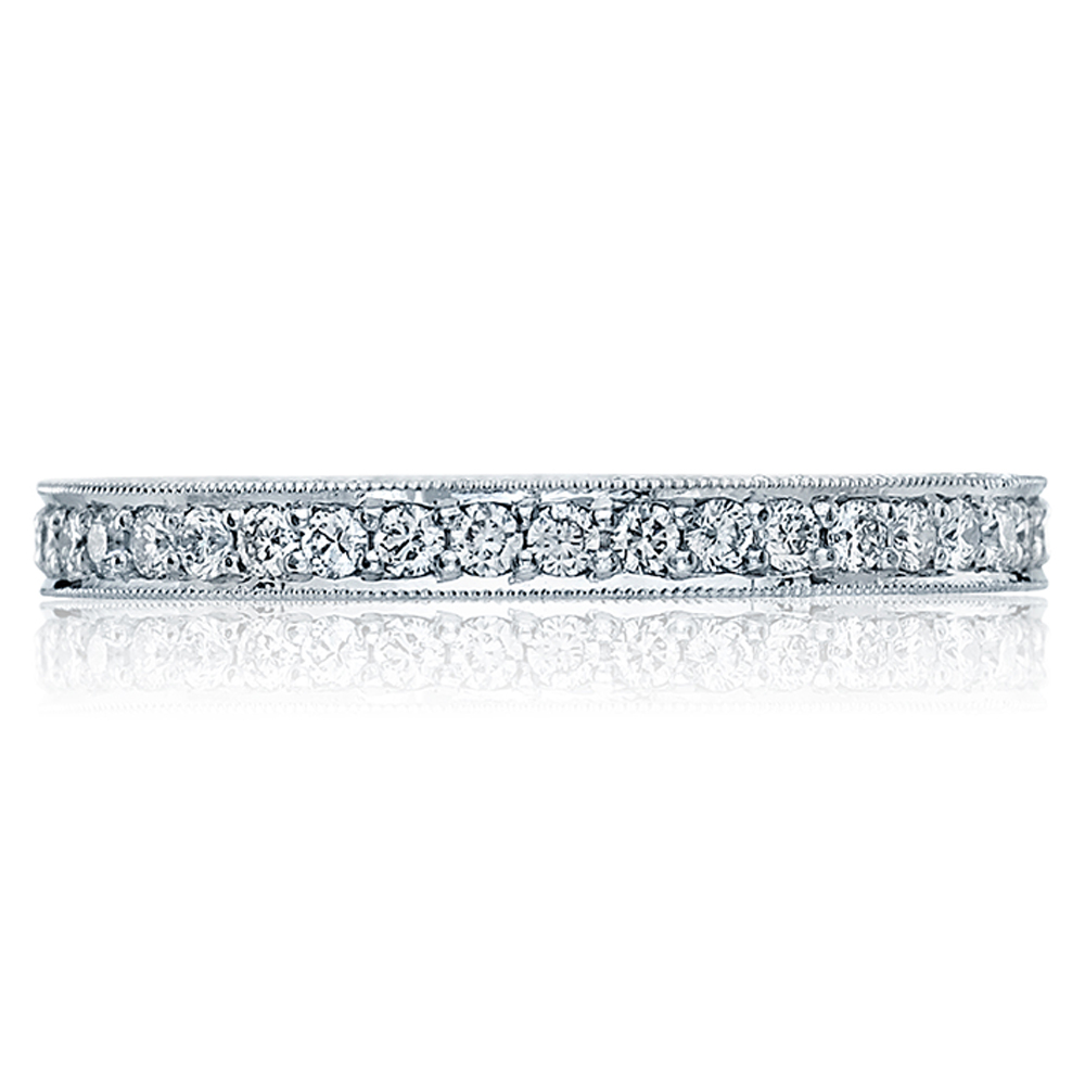 HT2522B Platinum Tacori Blooming Beauties Diamond Wedding Ring