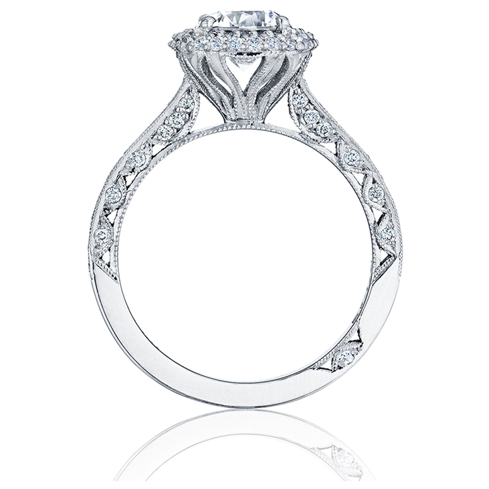 HT2522CU75 Tacori Crescent Platinum Engagement Ring Alternative View 1