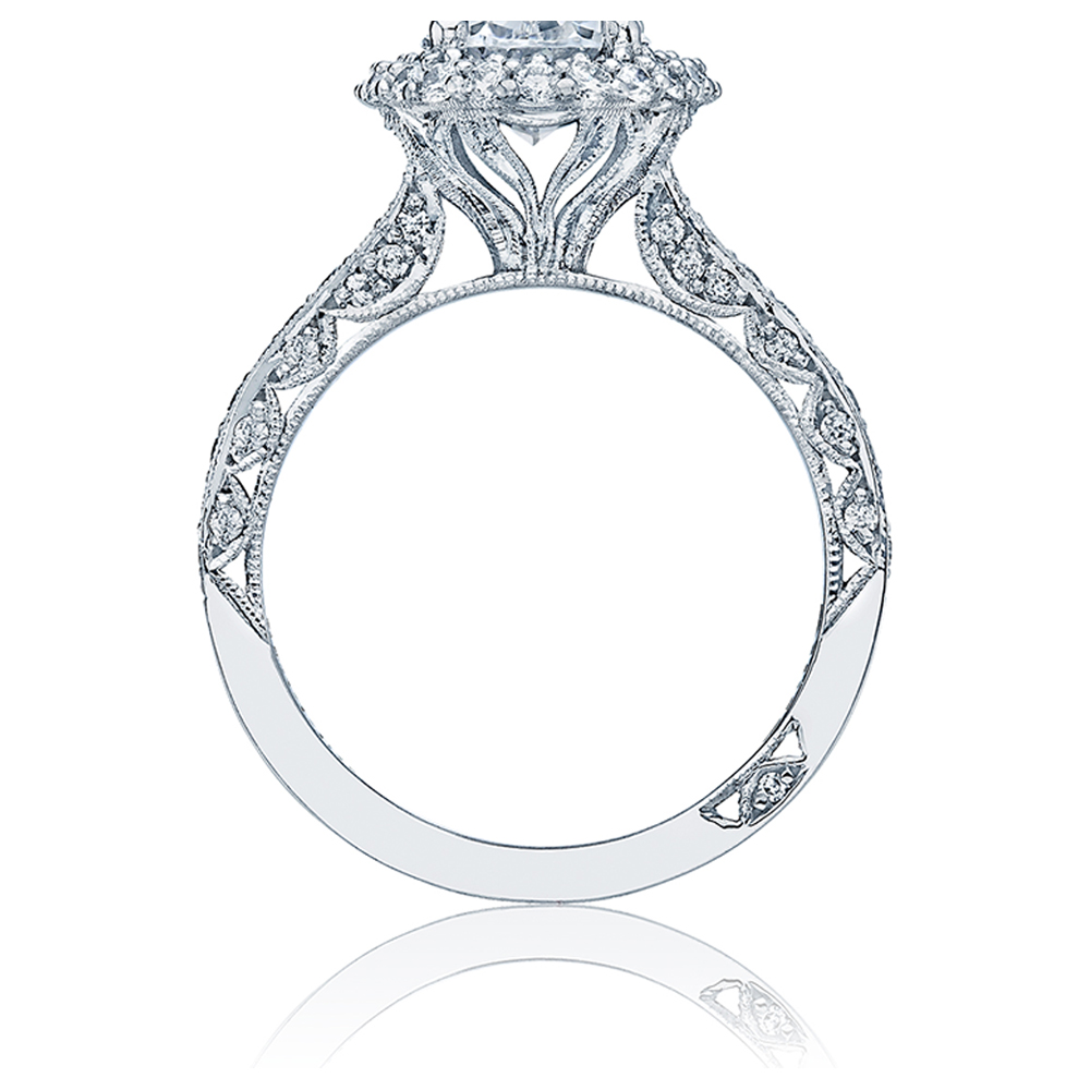 HT2522OV8X6 Tacori Crescent Platinum Engagement Ring Alternative View 1