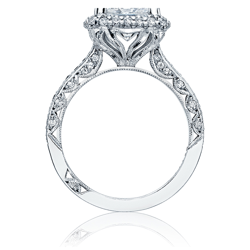 HT2522PR75 Tacori Crescent 18 Karat Engagement Ring Alternative View 1