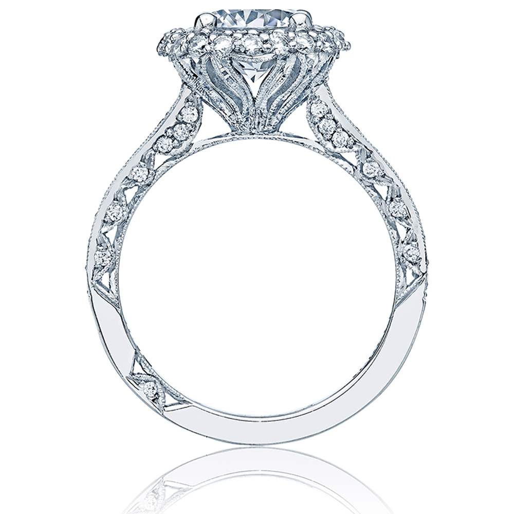 HT2522RD7 Tacori Crescent Platinum Engagement Ring Alternative View 1