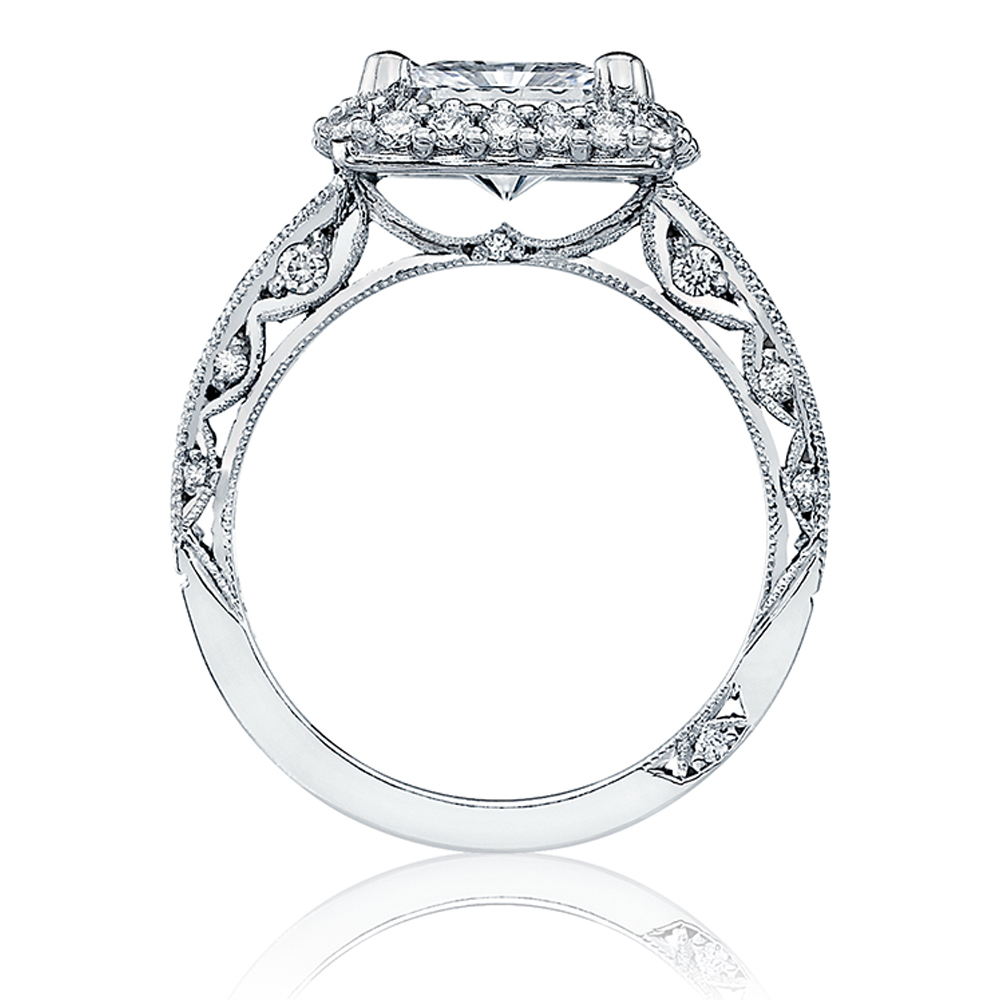 HT2523PR75 Tacori Crescent Platinum Engagement Ring Alternative View 1