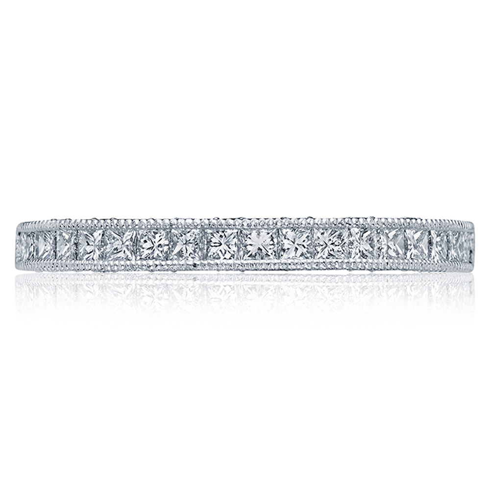 HT2526B12X Platinum Tacori Blooming Beauties Diamond Wedding Ring
