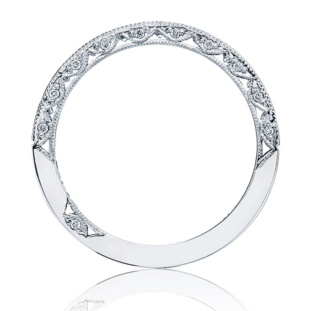 HT2526B12X Platinum Tacori Blooming Beauties Diamond Wedding Ring Alternative View 1