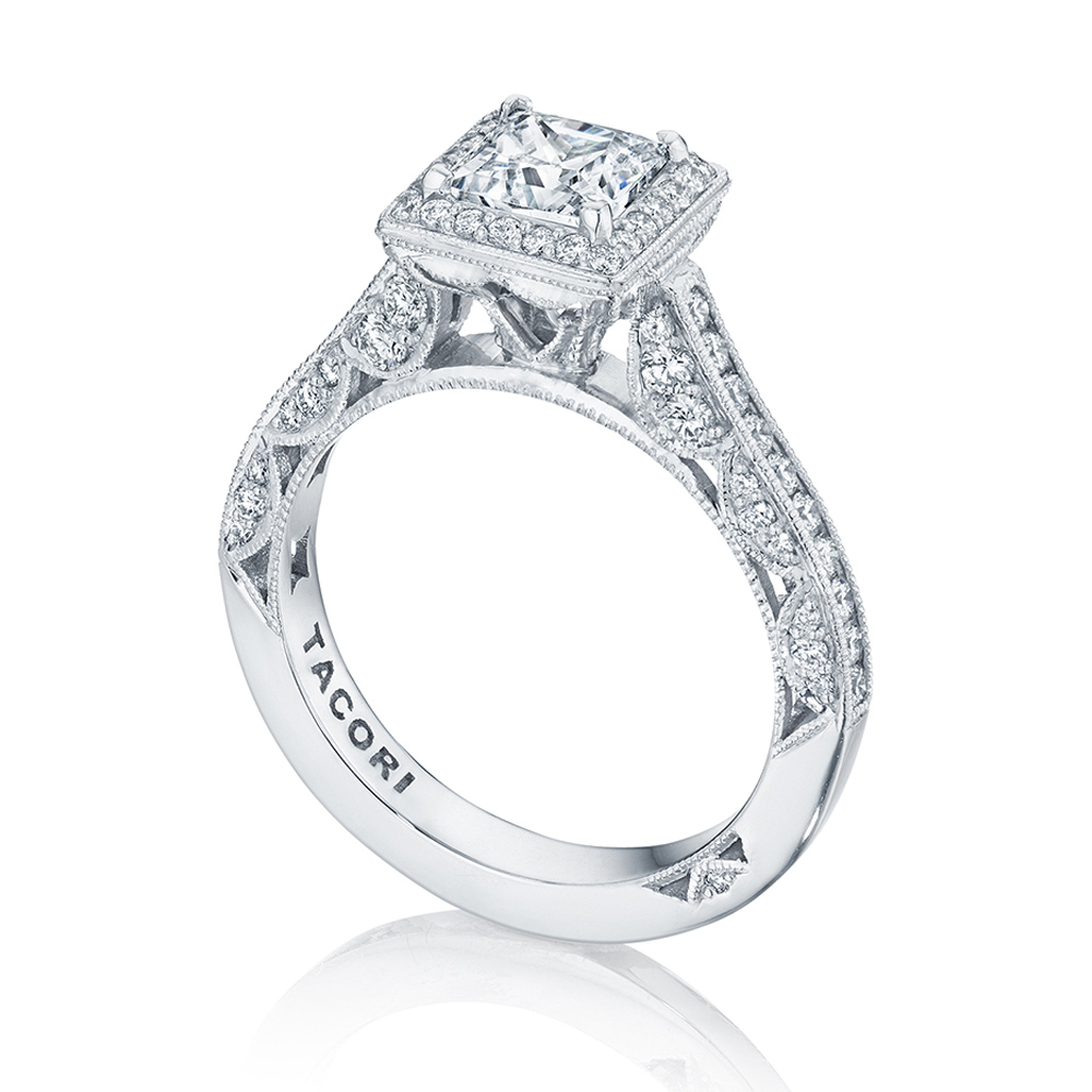 Tacori HT2550PR55 18 Karat Classic Crescent Engagement Ring Alternative View 2